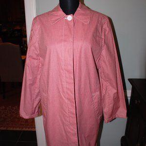 NWOT Lightweight Preppie Tiny Check Short Coat